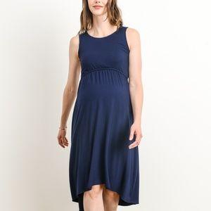 <CMT1693s> Double layer Maternity/Nursing Dress